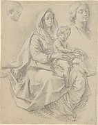 Seated Woman with a Child on her Lap (Study for a Mystic Marriage of St. Catherine of Alexandria)