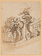 Design for Interior Corner of a Frieze or a Stairwell