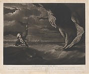 The Perilous Situation of Major Mony, When He Fell into the Sea with His Balloon on the 23rd of July, 1785, Off the Coast of Yarmouth; Most Providentially Discovered and Taken Up by the Argus Sloop, After Having Remained in the Water During Five Hours