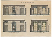 Longitudinal and Cross Sections of the Dining Rooms of the Hôtel de Montholon