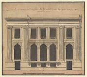 Façade of the Hôtel de Chavannes, Paris (recto); Plan of a Circular Room (verso)
