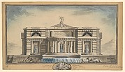 Design for a Neoclassical Building, Thought to be a School of Arts for the City of Stockholm