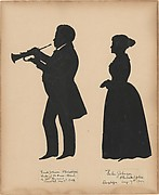 Frank Johnson, Leader of the Brass Band of the 128th Regiment in Saratoga, with his wife, Helen