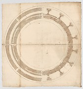 St. Peter's, drum, plans at two levels (recto) blank (verso)