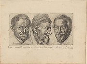 Three Portraits of Men (Possibly Camillo Graffico, Ercole Pedemonte and Antonio Carone)