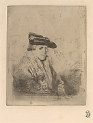 Young Man, Seated, in a Velvet Beret, after Rembrandt