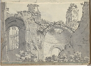 Roman Ruins with Arched Alcoves (Smaller Italian Sketchbook, leaf 3 recto)