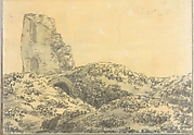 Ruined Roman Tower in a Landscape (Smaller Italian Sketchbook, leaf 5 recto)