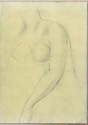 Sketch of a Female Nude Resembling the Medici Venus (Smaller Italian Sketchbook, leaf 19 recto)