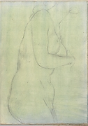 Sketch of a Female Nude Resembling the Medici Venus (Smaller Italian Sketchbook, leaf 20 recto)