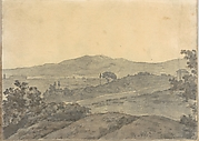 Landscape with Distant Buildings (Smaller Italian Sketchbook, leaf 28 recto)