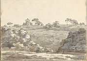 Landscape with a Two-Story Building on a Hill (Smaller Italian Sketchbook, leaf 29 recto)