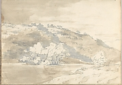 Landscape with Building on a Distant Hill (Smaller Italian Sketchbook, leaf 33 recto)