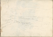 Landscape with River, Arched Bridge and Distant Mountains (Smaller Italian Sketchbook, leaf 39 recto)
