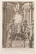 Cathedram S. Petri in interiore templi fronte...Plate 41 from the Album 'Basilica di S. Pietro in Vaticano'