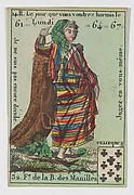 F.e de la B. des Manilles from Playing Cards (for Quartets) 'Costumes des Peuples Étrangers'