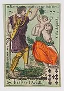 Hab.t de l'Acadie from Playing Cards (for Quartets) 'Costumes des Peuples Étrangers'