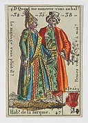 Hab.t de la Turquie from Playing Cards (for Quartets) 'Costumes des Peuples Étrangers'
