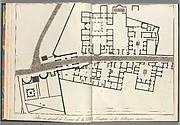 Large plan of the entrance of the town of Pompeii, and its surrounding buildings, from Antiquités de Pompeïa, tome premier, Antiquités de la Grande Grèce... (Antiquities of Pompeii, volume one, Antiquities of Great Greece...), volume 1, plate 2