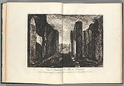 View of the interior of the city of Pompeii, from Antiquités de Pompeïa, tome premier, Antiquités de la Grande Grèce... (Antiquities of Pompeii, volume one, Antiquities of Great Greece...), volume 1, plate 6