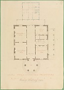 House for Henry Whitney, New Haven, Connecticut (client's plan)