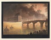 Fête pour la Paix Générale donnée à Paris le 18 Brumaire. Pont du Carrousel.