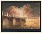 Fête pour la Paix Générale donnée à Paris le 18 Brumaire. Pont et Place de la Concorde.