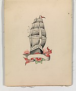 Tattoo Design with a Ship