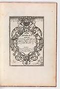 Diverses Pieces de Serruriers, title page (recto)