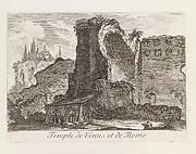 Temple de Venus et de Rome, from Les Plus Beaux Monuments de Rome Ancienne ou Recueil des plus beaux Morceaux de l'Antiquité Romaine qui existent encore