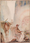 """Revealing Such Treasure as Surely Mortal Eyes Had Never Before Gazed Upon,"" frontispiece from  ""The Story of Baba Abdalla,"" in ""The Arabian Nights"""