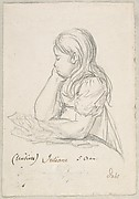 Portrait of Juliane Sophie Heger as a Child, leaning on a Table