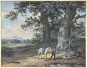 A Peasant Leading his Horse on the Outskirts of a Wood