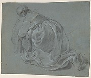 Weeping Woman Kneeling, Seen from Behind