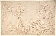 Four Figures Conversing in a Landscape