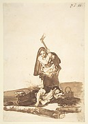 A Woman Murdering a Sleeping Man, from Images of Spain Album (F), 87