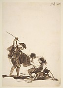 A Man Interfering in a Street Fight, from Images of Spain Album (F), 82