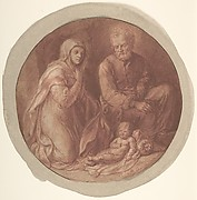 Holy Family in the Stable