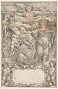 Design for a Frontispiece:  Mercury and Fame