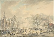 Battle Scene with Church at left