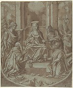 The Adoration of the Magi (Cartoon for an Embroidery)