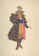 Costume Study for a Boyar with High Boots and a Red Cap
