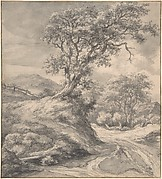 Dune Landscape with Oak Tree