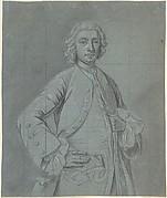 Half-Length Portrait Study of a Wigged Man