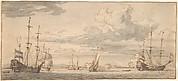 Dutch Ships in a Bay