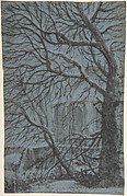 Apse of a Church Seen Through the Snowy Branches of a Tree