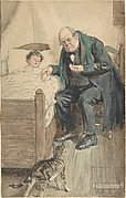"""Illustration for the book, """"Little Peter, A Christmas Morality"""""""