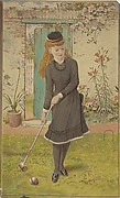 Girl Playing Croquet