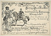Invitation to the South American Gauchos by the directors of Buffalo Bill's Wild West Show