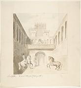 Lea Castle, View in Tilt-Court, Facing North